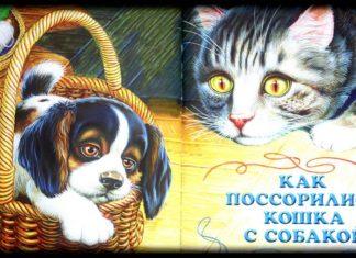 Как поссорились кошка с собакой — Пришвин Михаил