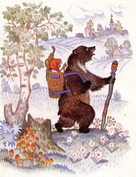 Маша и медведь - русская народная сказка