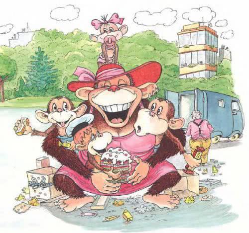 Обезьянки и грабители — Остер Григорий