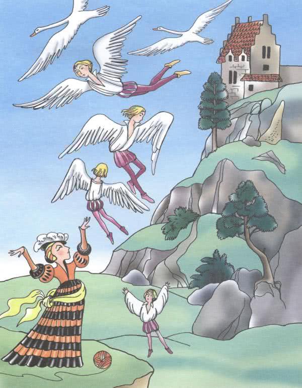 Шесть лебедей - Братья Гримм