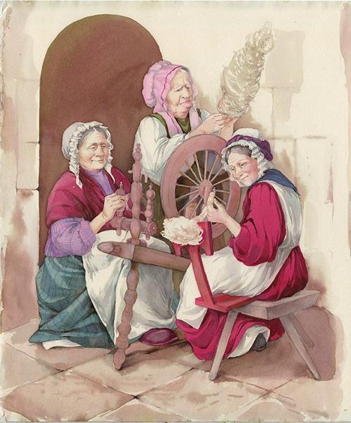 Три пряхи - Братья Гримм