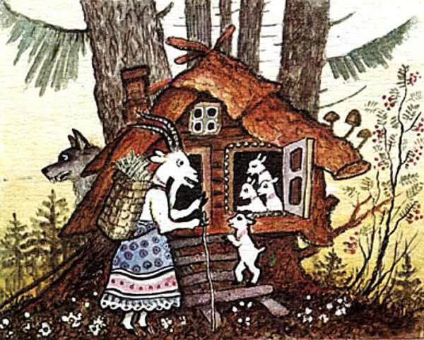 Волк и семеро козлят - русская народная сказка