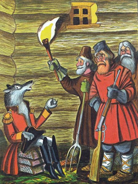 Волк на псарне - Крылов Иван