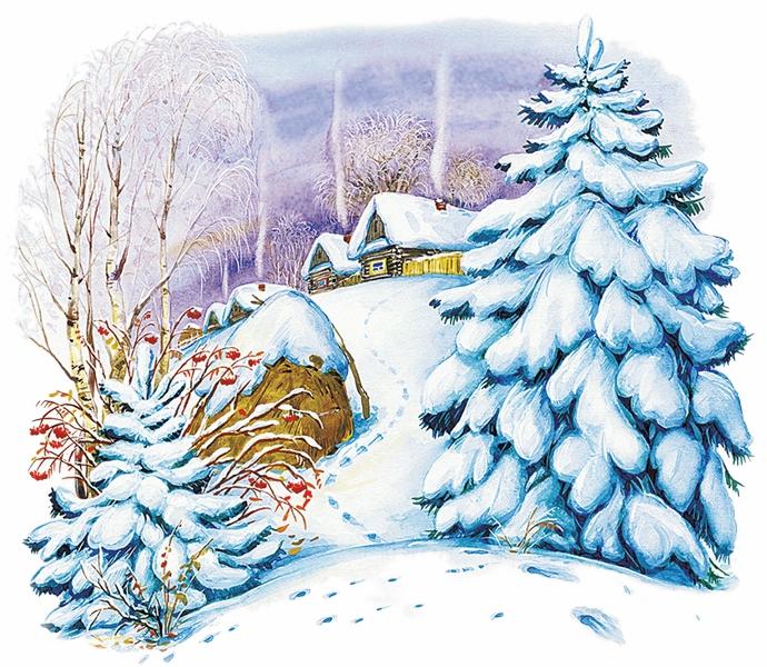 Зима — Ушинский Константин