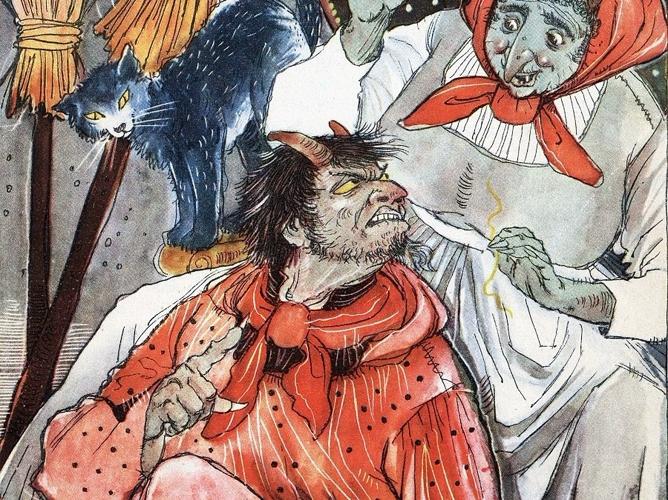Черт с тремя золотыми волосами — Братья Гримм