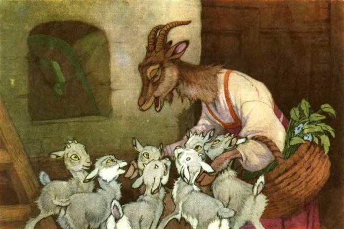 Козлятки и волк — Ушинский Константин