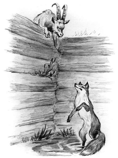 Лиса и козел — Ушинский Константин