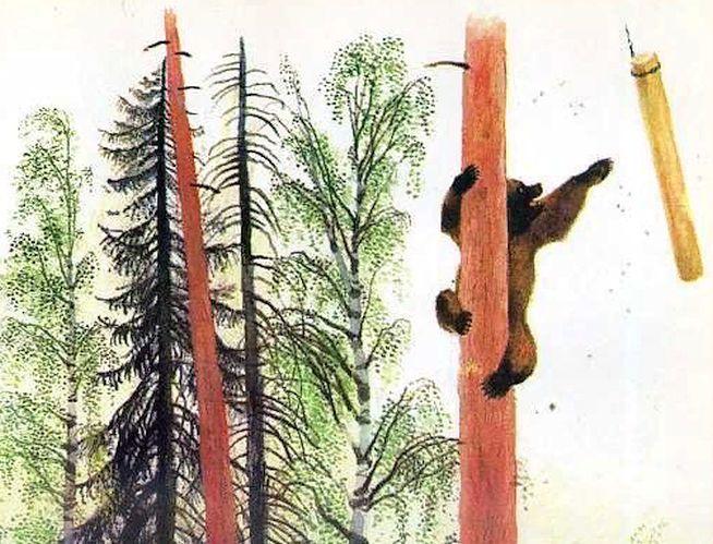 Медведь и бревно — Ушинский Константин