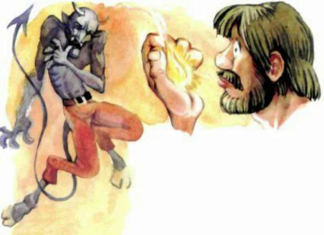 Мужичок и черт — Братья Гримм