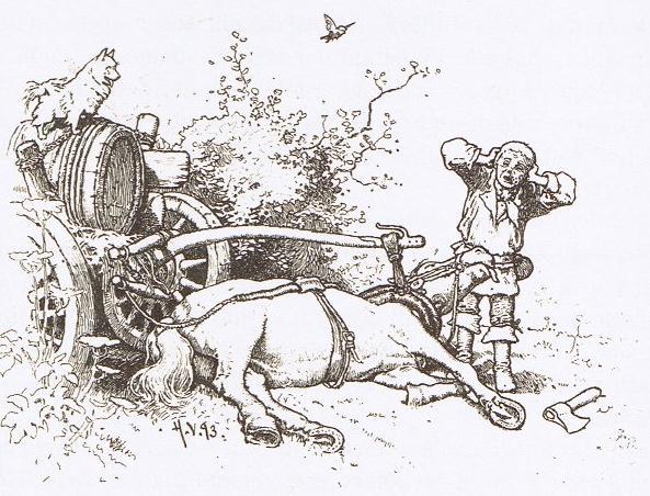 Пёс и воробей — Братья Гримм