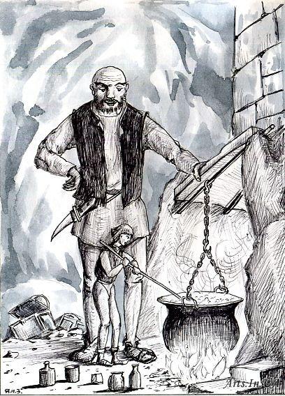 Разбойник и его сыновья — Братья Гримм