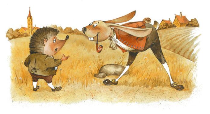 Заяц и еж — Братья Гримм