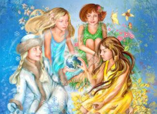 Четыре сестрички зима, весна, лето, осень